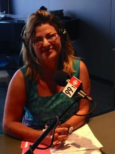 Sharone Bar-David at CBC radio's Toronto studio