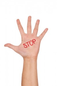 iStock - Hand with Stop 11960750S