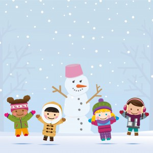iStock Snowman and Kids